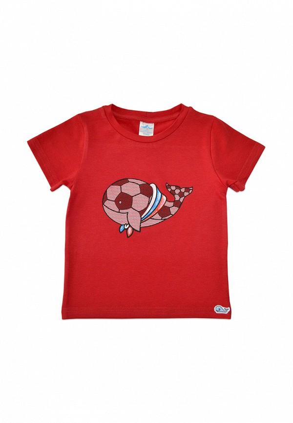 футболка с коротким рукавом кит малыши, красная