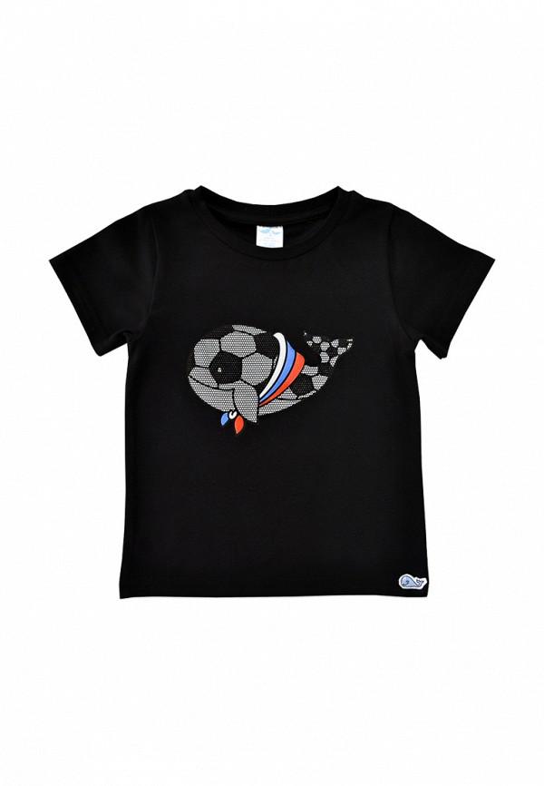 футболка с коротким рукавом кит малыши, черная