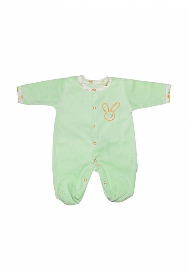 Детский комбинезон Клякса цвет зеленый