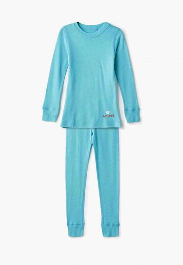 термобелье dr.wool малыши, голубое