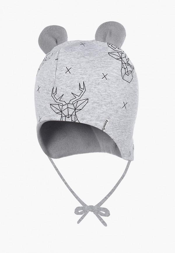 шапка anmerino малыши, серая