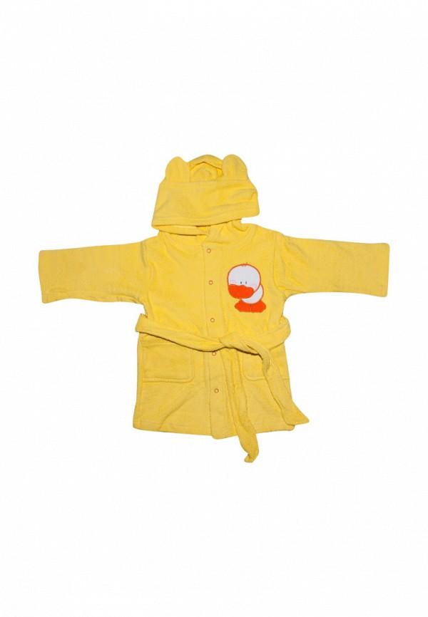 халат клякса малыши, желтый