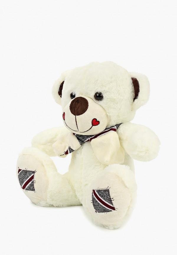 Купить Игрушка мягкая Tashatoys, Медведь с шарфом в полоску., mp002xc007os, белый, Весна-лето 2019