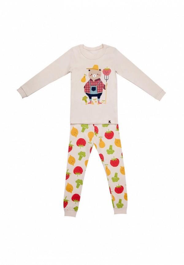 пижама tokki малыши, бежевая