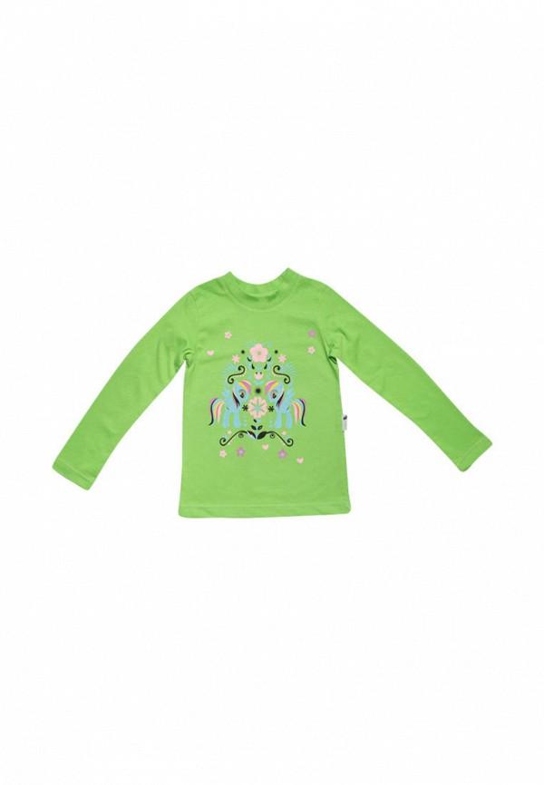 лонгслив клякса малыши, зеленый