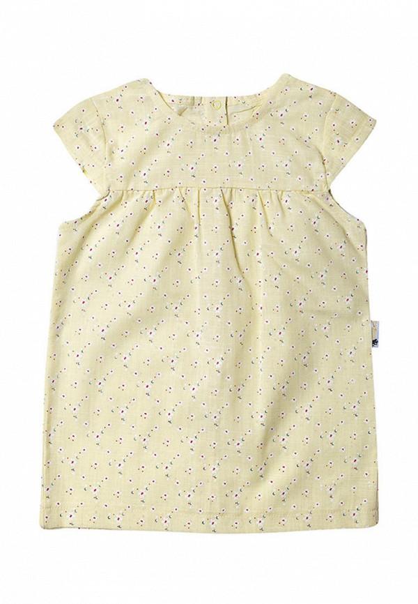 платье клякса малыши, желтое