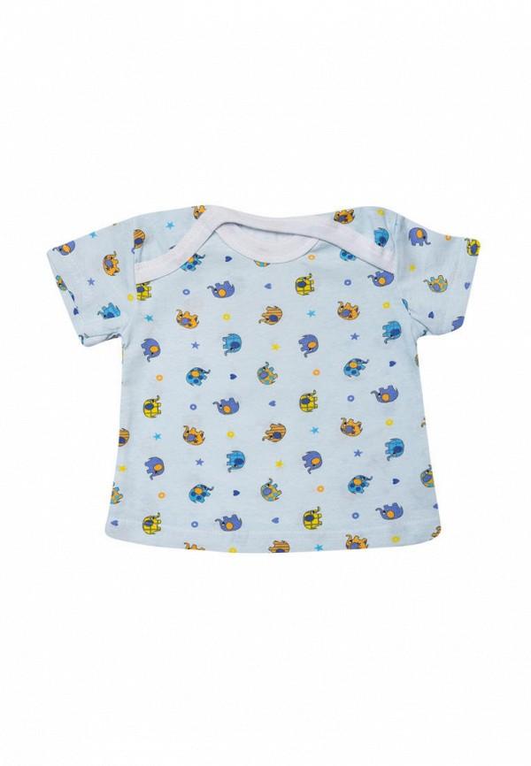футболка клякса малыши, голубая