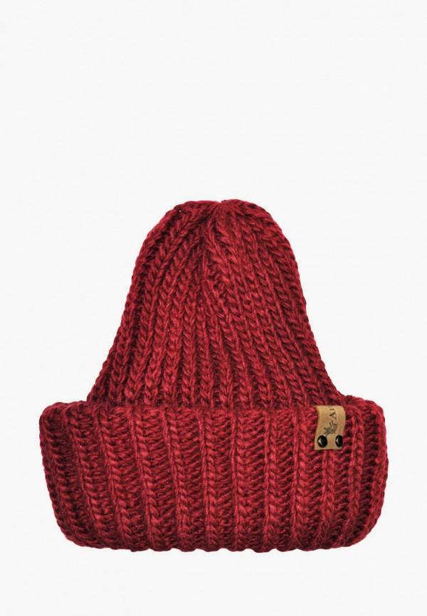 шапка anmerino малыши, бордовая