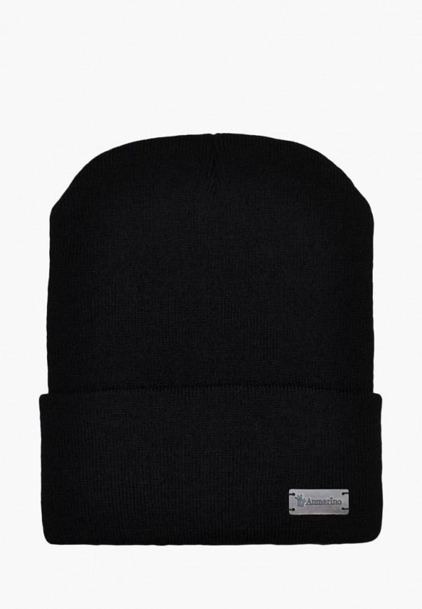 шапка anmerino малыши, черная
