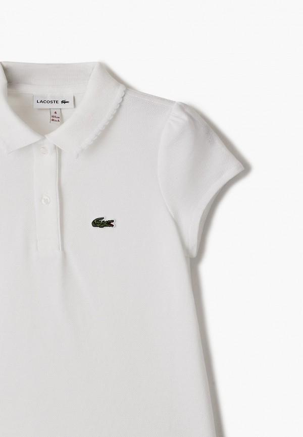 Поло для мальчика Lacoste цвет белый  Фото 3