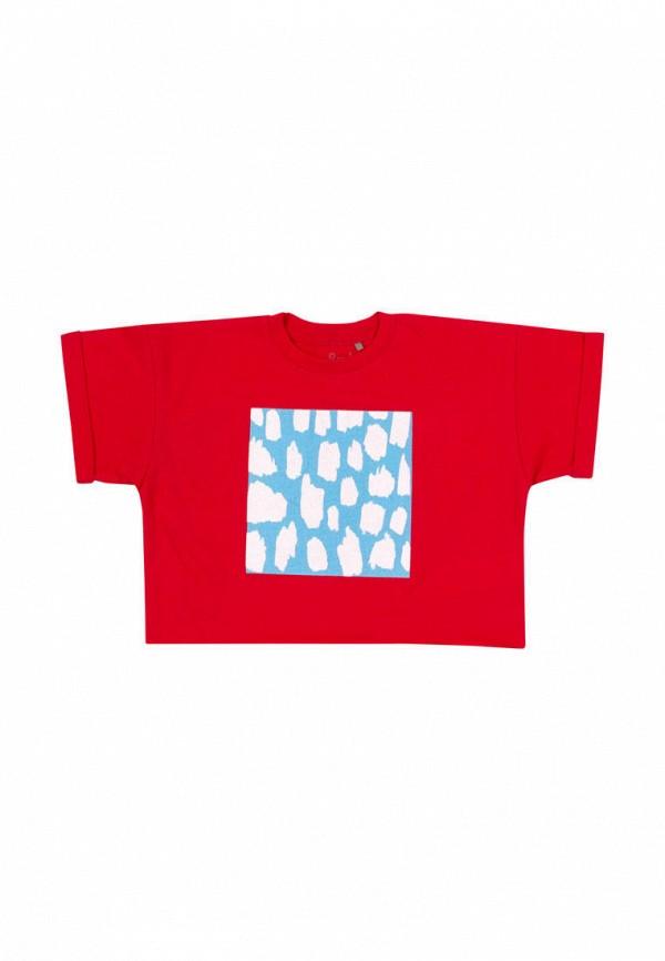 футболка с коротким рукавом бемби малыши, красная