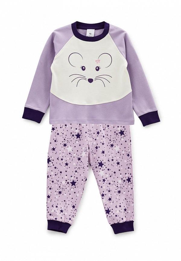 пижама роза малыши, фиолетовая