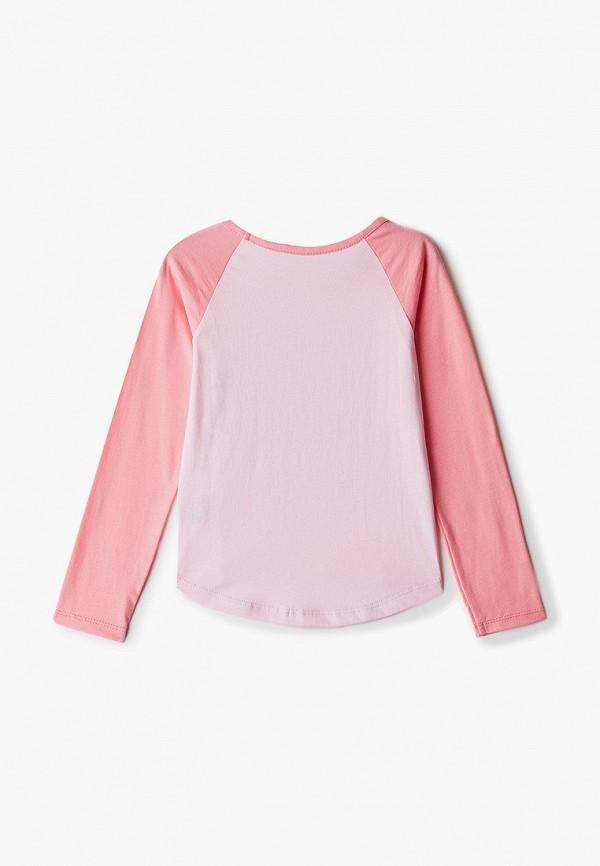 Лонгслив для девочки Belka цвет розовый  Фото 2