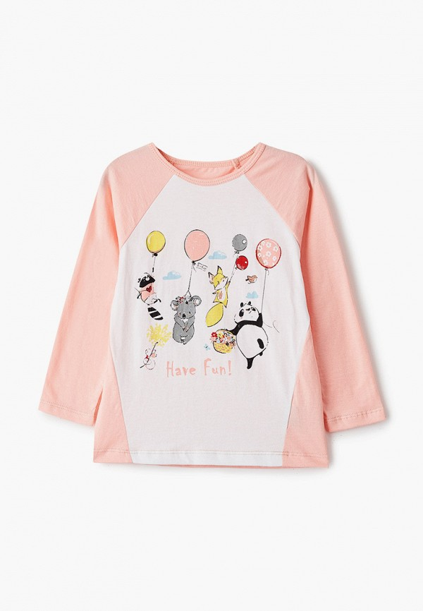Лонгслив для девочки Belka цвет розовый