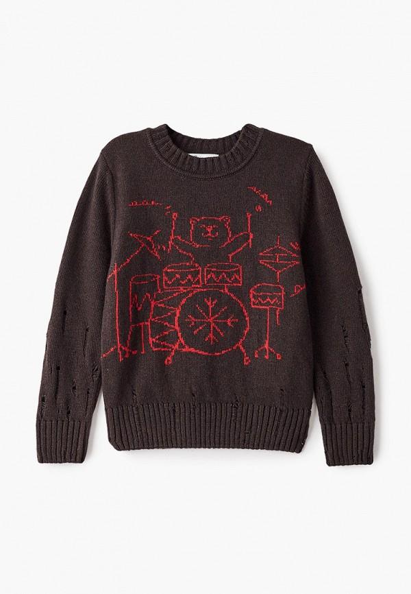 Джемпер для мальчика Снег Идёт цвет коричневый