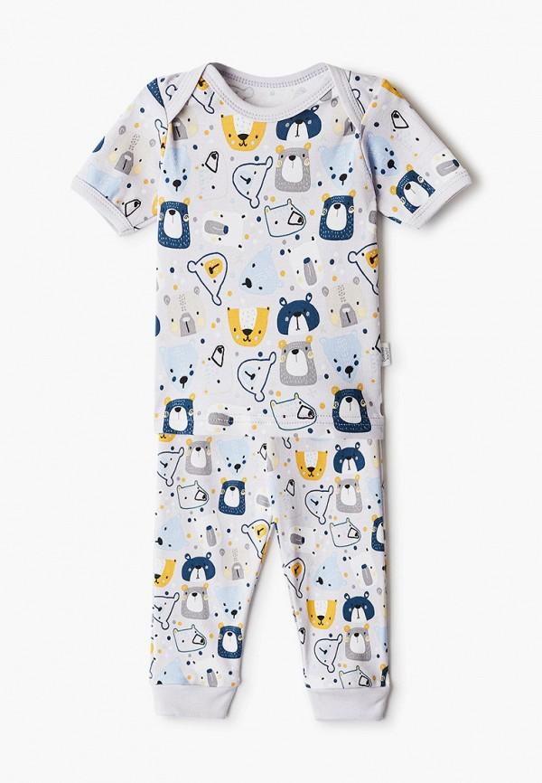 Пижама для мальчика Веселый малыш цвет серый
