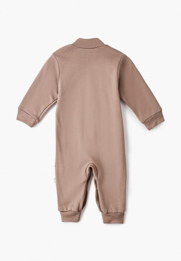 Детский комбинезон бельевой Веселый малыш цвет коричневый  Фото 2