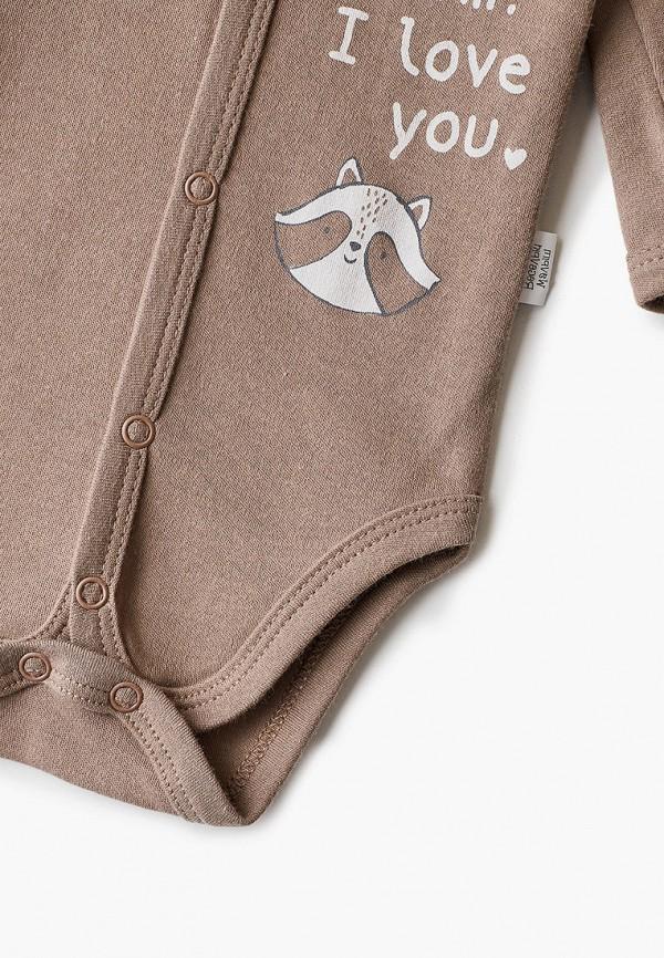 Боди для новорожденного Веселый малыш цвет коричневый  Фото 3