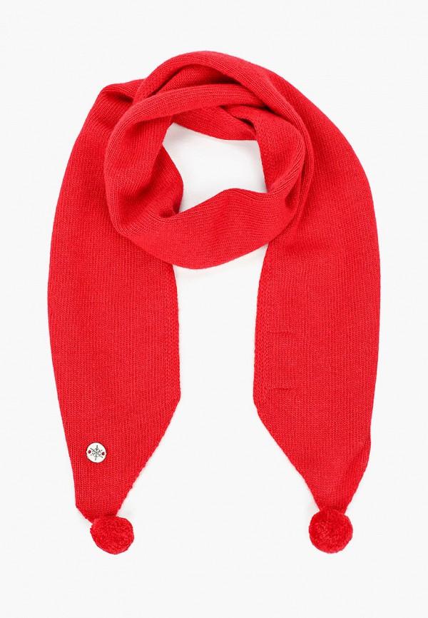 Шарф для мальчика Снег Идёт цвет красный