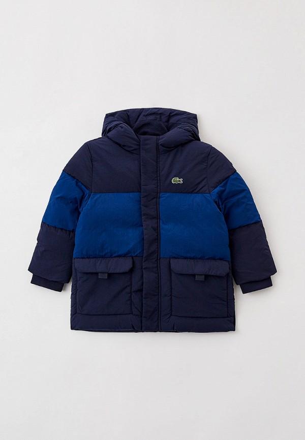 Куртка утепленная Lacoste синего цвета