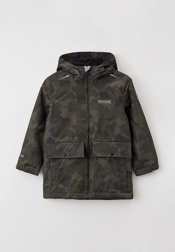 Куртка для девочки утепленная Regatta цвет хаки