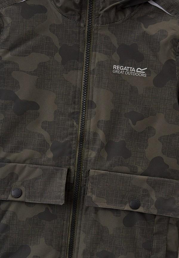 Куртка для девочки утепленная Regatta цвет хаки  Фото 3