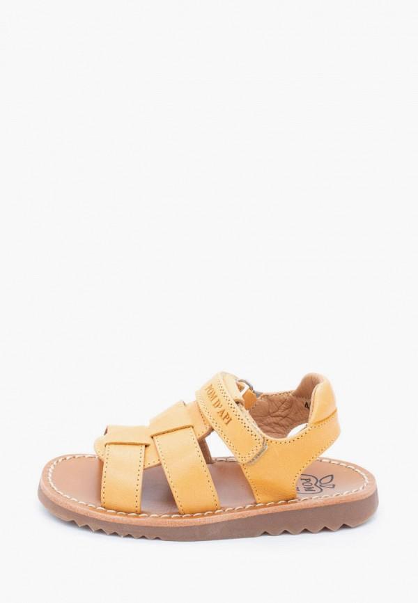 сандалии pom d'api малыши, желтые
