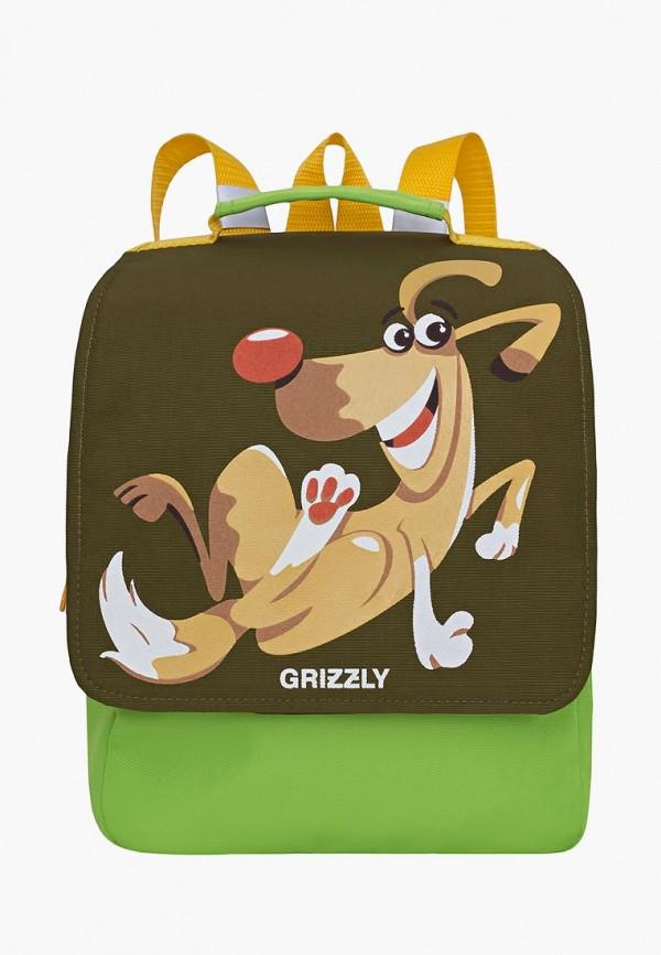 рюкзак grizzly малыши, зеленый