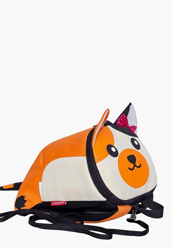 рюкзак grizzly малыши, оранжевый