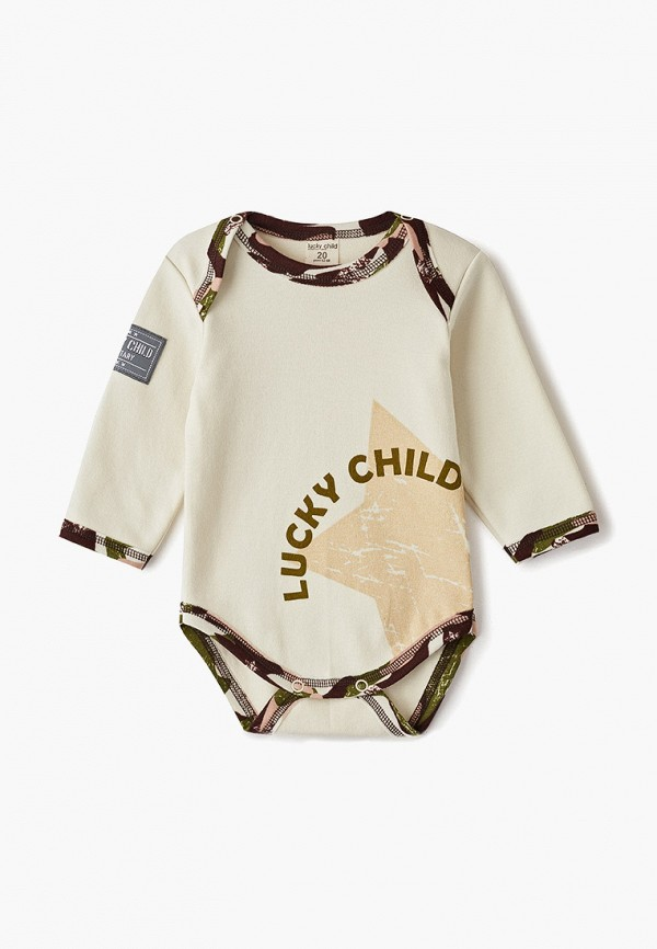 Боди Lucky Child Lucky Child MP002XC00P9T боди детский lucky child 11 51к экрю экрю р 68 74