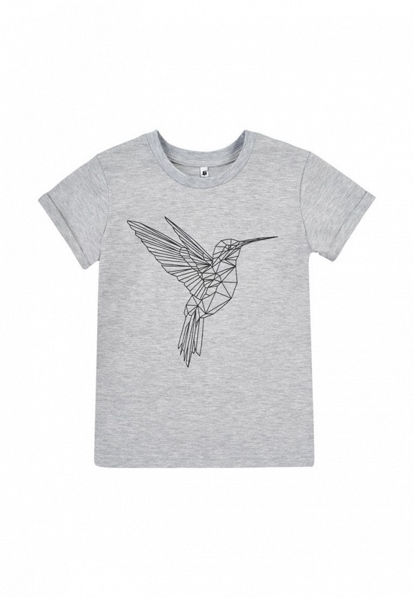 футболка с коротким рукавом garnamama малыши, серая