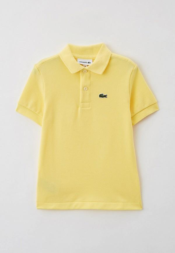 Поло Lacoste желтого цвета