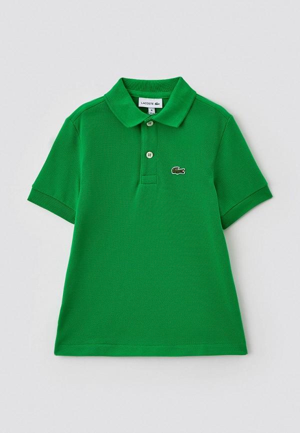 Поло Lacoste зеленого цвета