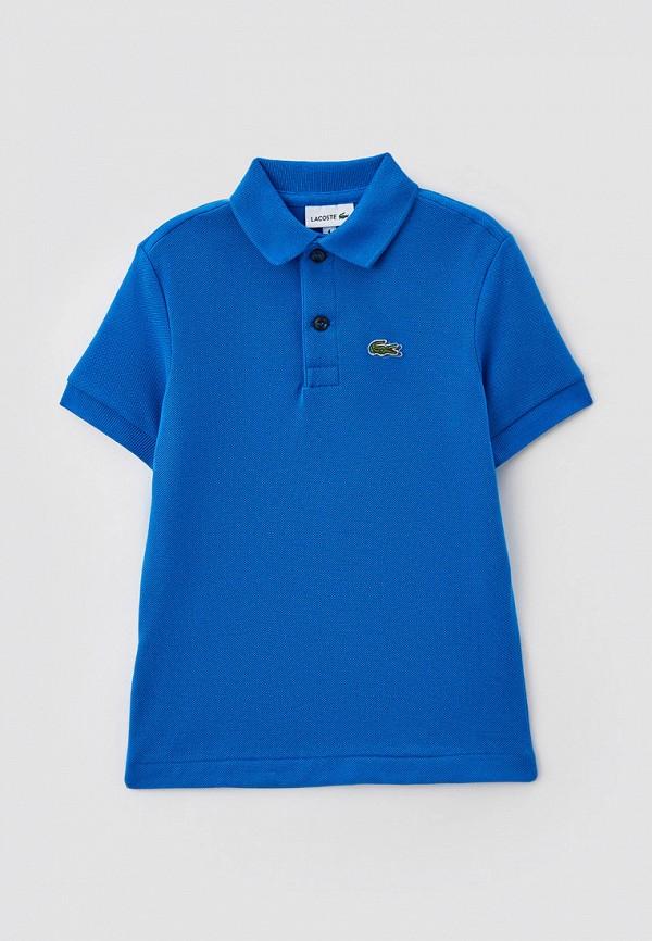 Поло Lacoste синего цвета