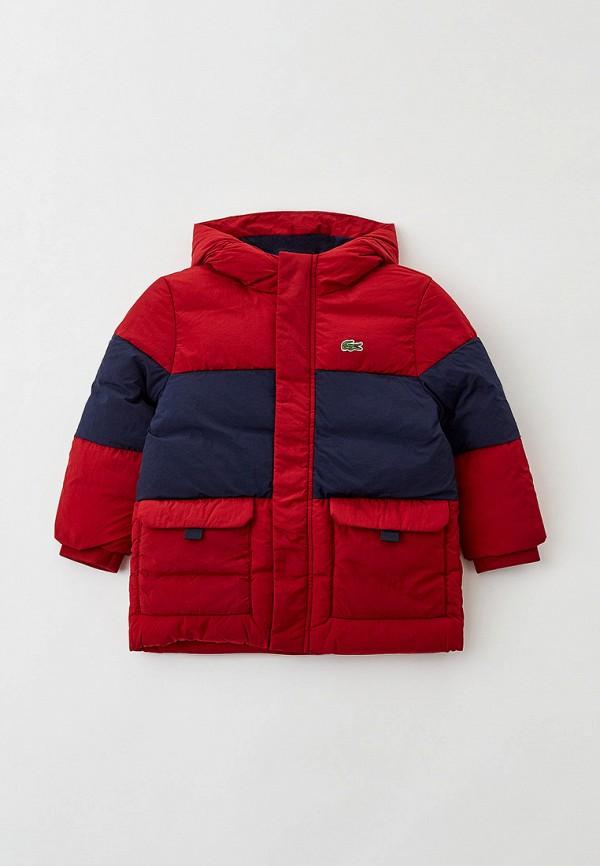 Куртка утепленная Lacoste красного цвета