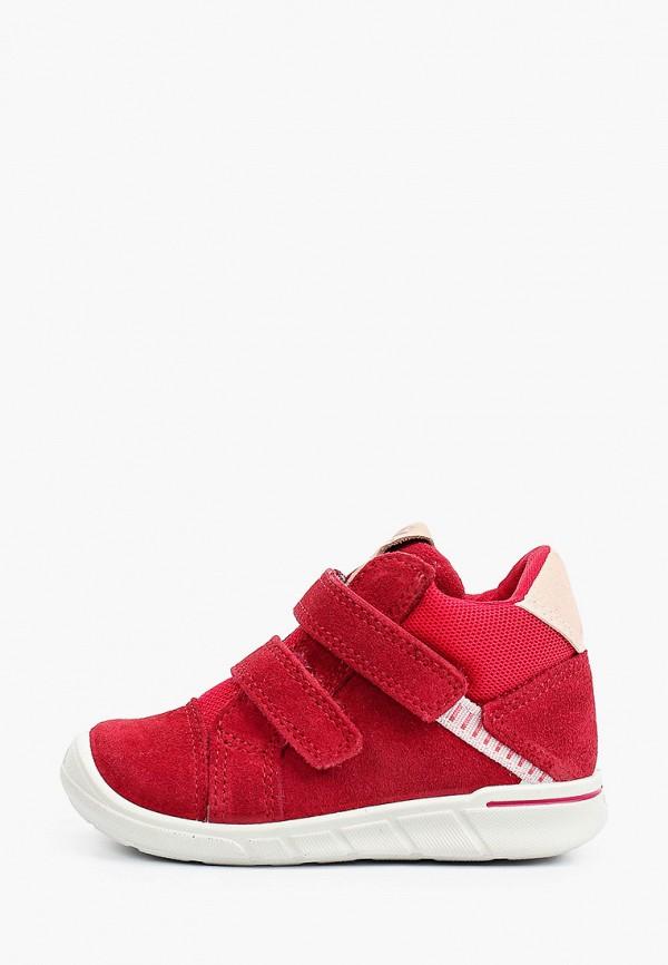 ботинки ecco малыши, красные