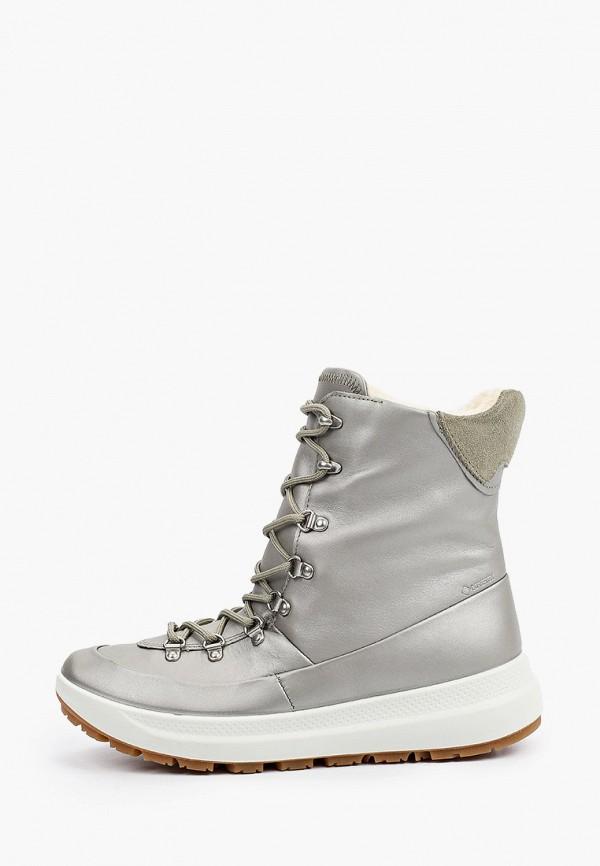 ботинки ecco малыши, серебряные
