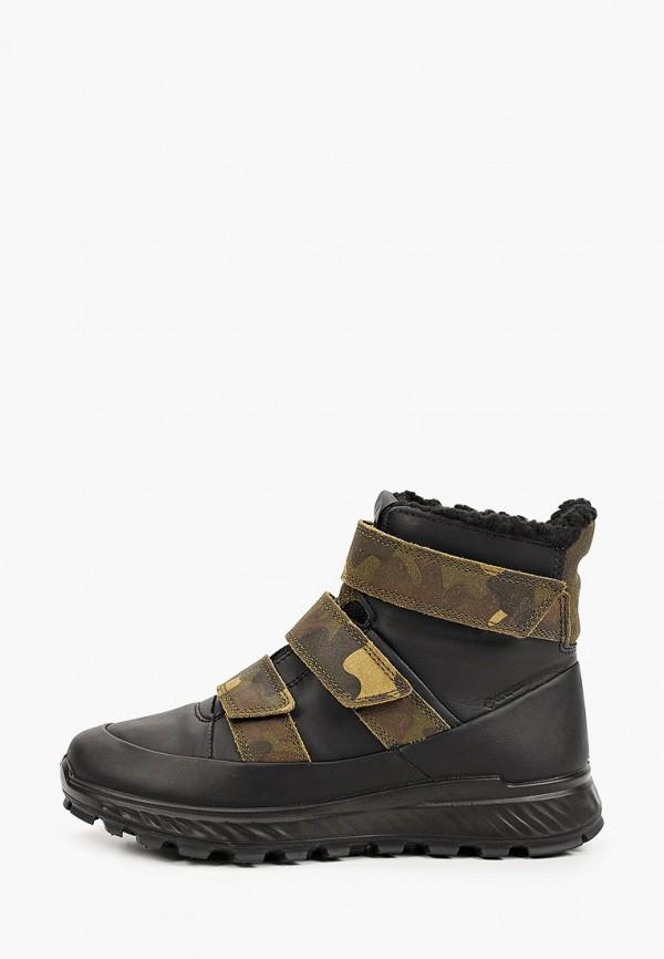 ботинки ecco малыши, черные