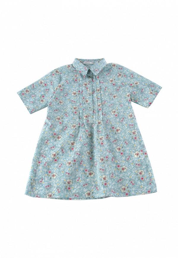 повседневные платье wojcik для девочки, голубое