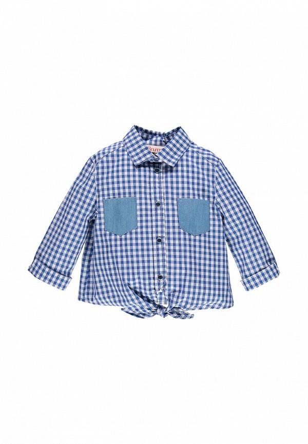 рубашка brums для девочки, синяя