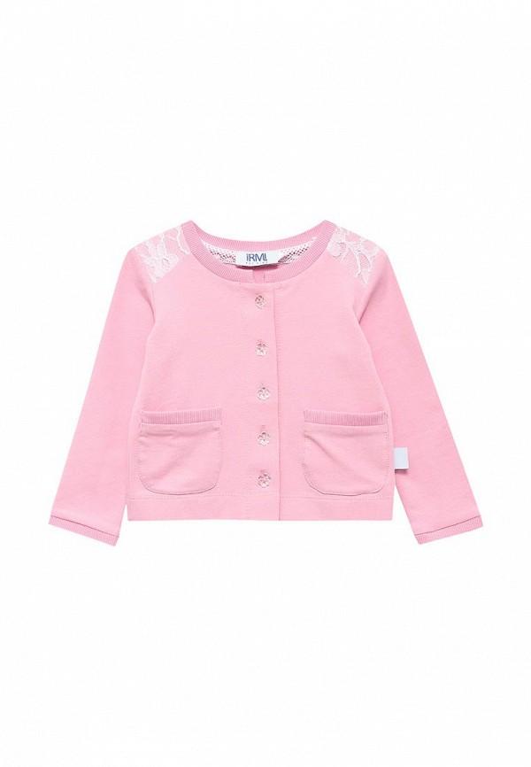 кардиган irmi для девочки, розовый