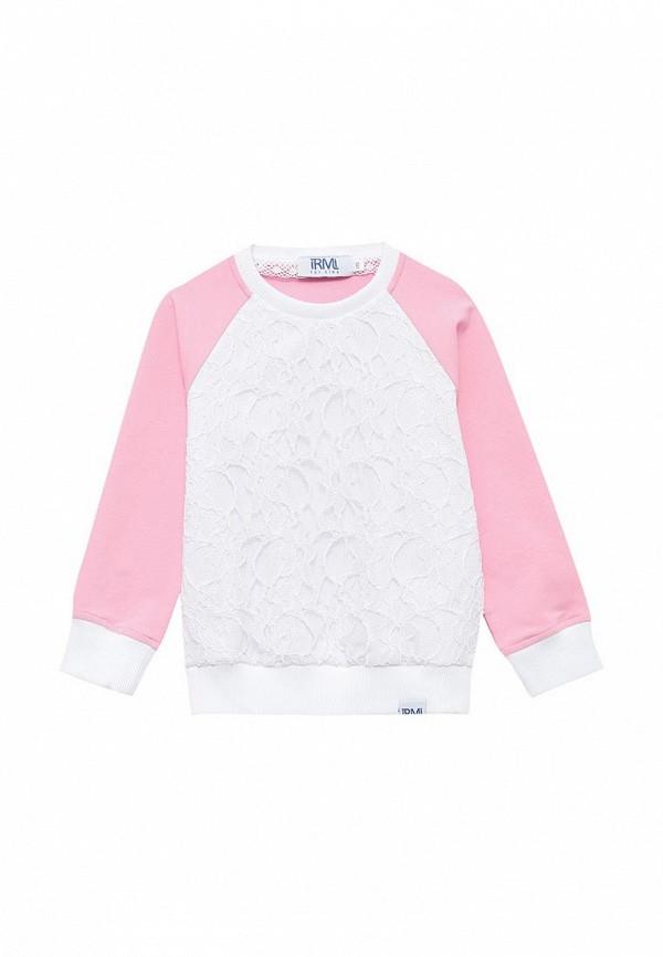 свитшот irmi для девочки, розовый