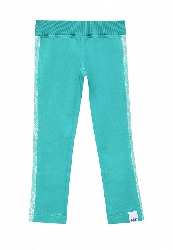 брюки irmi для девочки, бирюзовые