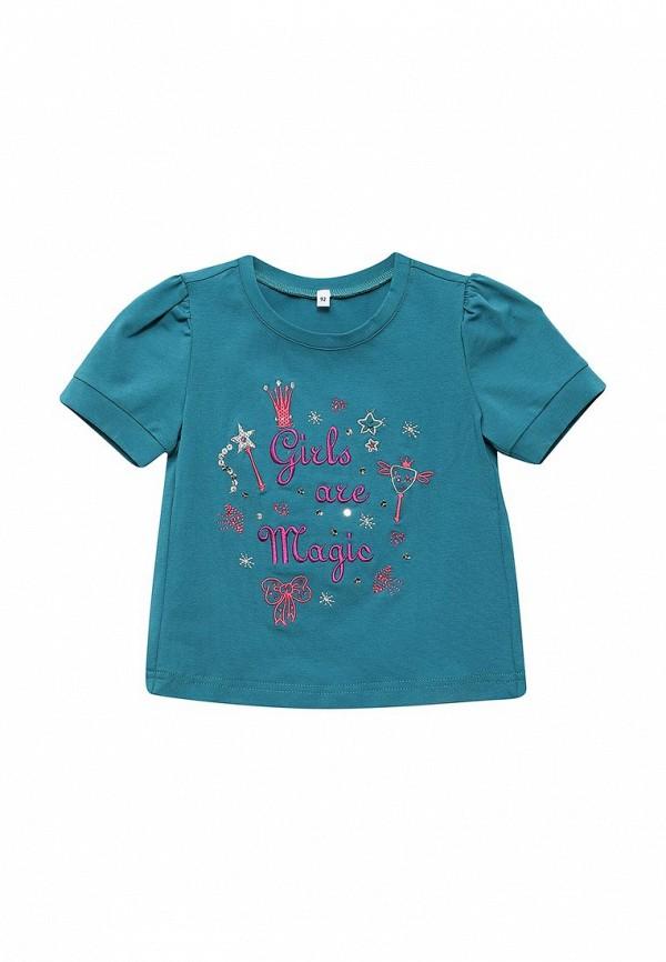 футболка с коротким рукавом fleur de vie для девочки, бирюзовая
