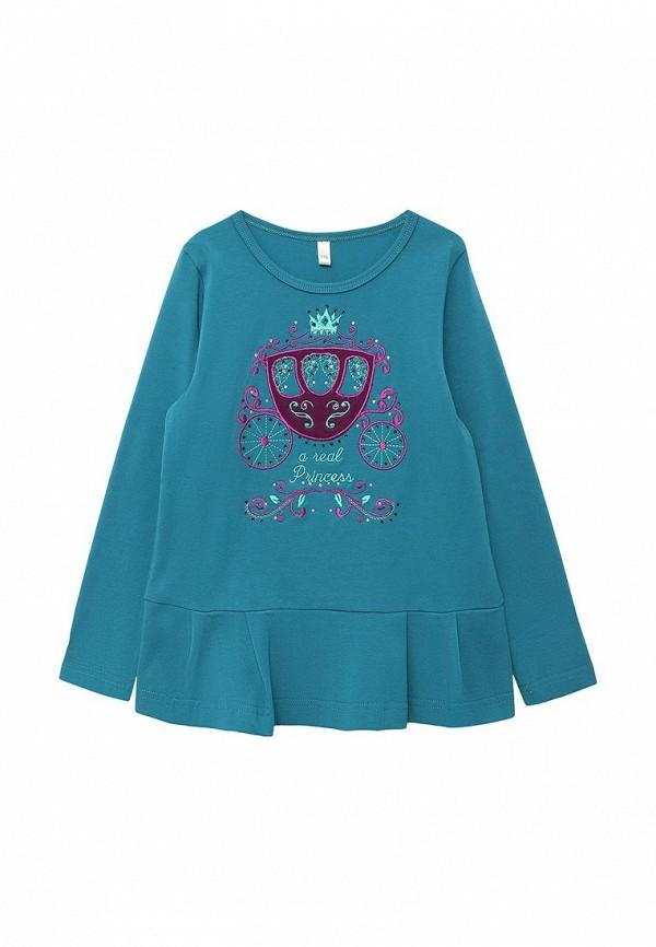 туника fleur de vie для девочки, синяя