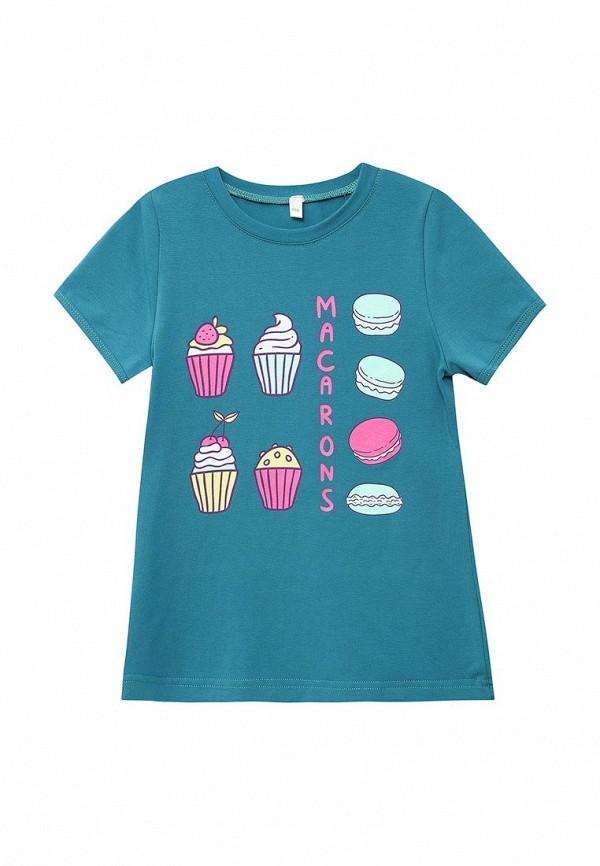 футболка с коротким рукавом fleur de vie для девочки, синяя