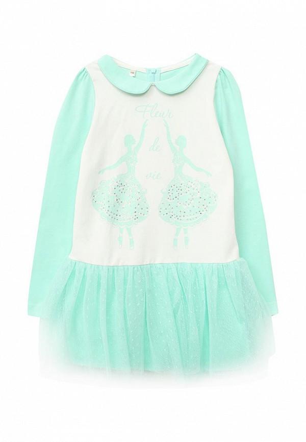 платье fleur de vie для девочки, зеленое