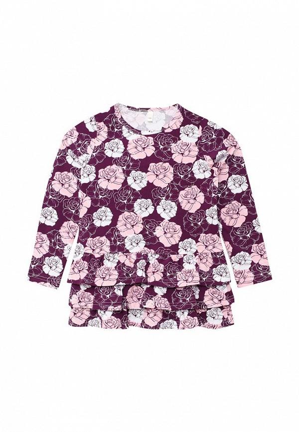 повседневные платье fleur de vie для девочки, фиолетовое