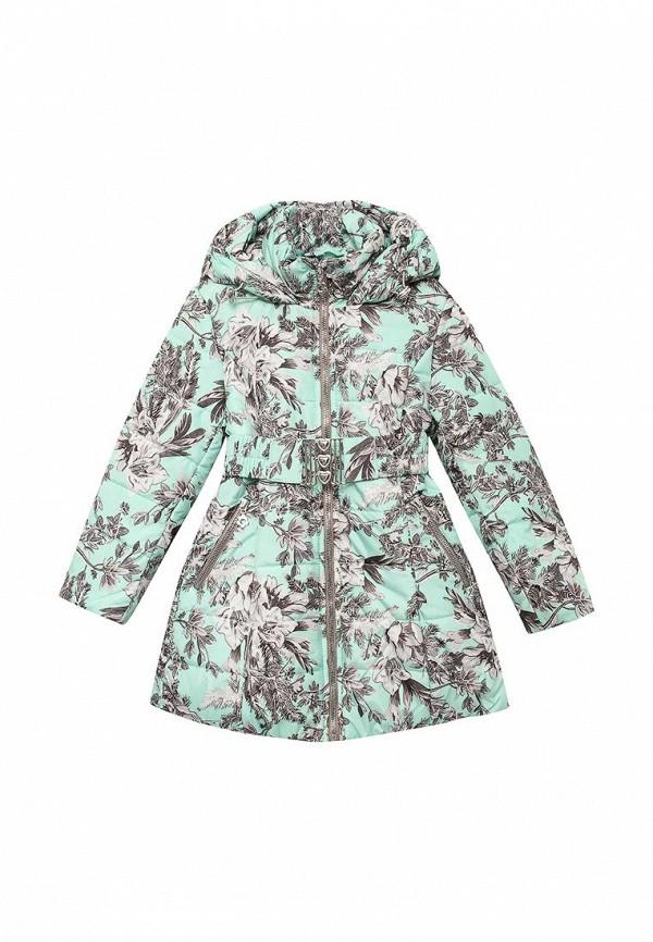 куртка fleur de vie для девочки, зеленая
