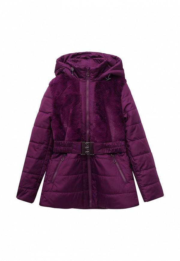 куртка fleur de vie для девочки, фиолетовая